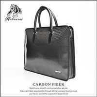 High-grade carbon fiber TPU men's bag briefcase file bag briefcases for man