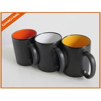 11OZ Plain black ceramic mug ,mugs imprinted,cheap coffee mugs