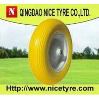 "16"" Flat Free PU Wheelbarrow Tires and Wheels (4.00-8)"