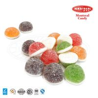 Sour sugar coated chewy milk candy
