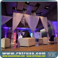 pipe & drape kits rental price outdoor portable stage pipe and drape round used for events/ exhibiti thumbnail image