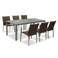 Gardeb furniture dining set 1 table 8 chairs