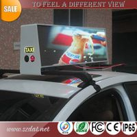 Hot sell P5mm taxi top led display with wireless control