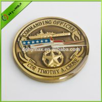 high quality antique gold souvenir coin with epoxy thumbnail image