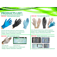 latex disposable gloves exam gloves rubber medical gloves Cheap China factory