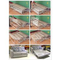 Telescopic wooden slat sofa bed mechanism in cheap price A011