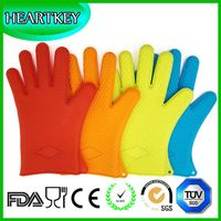 High quality Heat Isolation Gloves, Food Grade Grilling BBQ Gloves Waterproof Silicone Heat thumbnail image