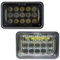 ALP Double Reflection 64W rectangle light replacement 4x6 Square Sealed Beam LED Headlights for JK