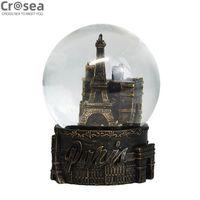 Custom souvenir engraved resin eiffel tower water snow globe for gift thumbnail image