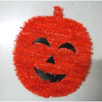 Pumpkin Shape Garland Tinsel For Halloween Ornament
