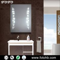 LED Lighted Mirror Digital Clock Function Option