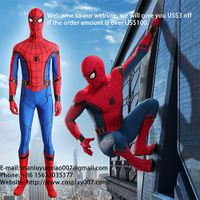 MANLUYUNXIAO New Arrival The Spider Man Cosplay Costume Jumpsuit For Men Custom Made