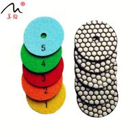 3 Inch 5 steps Dry Diamond stone Pads diamond polishing pad for grinding granite hard stone