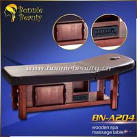 Solid wooden spa adjustable height shiatsu massage table