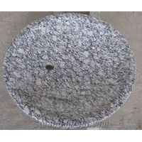 Spary White Granite Round Sinks,Vainity Tops, Vessel Sinks, Wash Bowls,Wave White Tops,Surf White Li