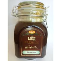 Natural flower chestnut honey from Russia