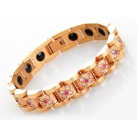 Korea 99.999% pure germanium rose gold color plated women germanium energy bracelet