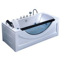 bathroom Air bubble bathtub with led light hydromassage bath thumbnail image