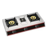 Stainless steel gas stove cooktops three burner
