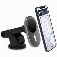 KC OEM Factory 2021 15w MagSafe tech wireless charger car mount for iphone 12 all Qi enable mobiles thumbnail image