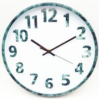 12 inch marble plastic wall clock