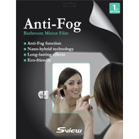 Anti-Fog film for bathroom mirror