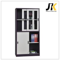Metal storage file cabinet with glass sliding door thumbnail image
