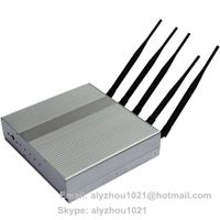 5 bands 12.5W high power GPS GSM 3G signal jammer blocker isolator shield,IR remote control,cover 50 thumbnail image