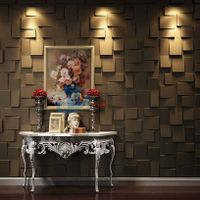 Decorative 3d plant fiber wall board