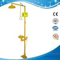 SH712BF-Foot pedal Safety shower & eyewash station,Carbon steel,yellow color thumbnail image