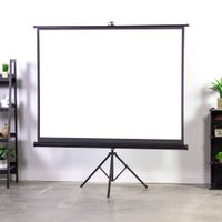 New 60- 120 inches Tripod Portable Projection Square Projector Screen for Stand Office thumbnail image