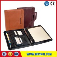Leather file holder for business