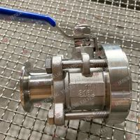 Stainless Steel Industrial 3PC Tank Bottom Valve