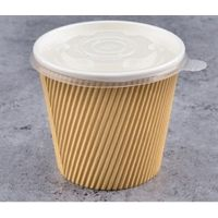 Triple Wall Ripple Kraft Paper Soup Cup