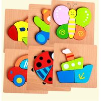Wooden Puzzle Jigsaw Early Learning Baby Preschool Educational Toys thumbnail image
