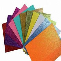 Glitter EVA Foam Sheets with Film, in Various Sizes and Colors, Suitable for Kids Toy Handcraft