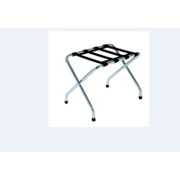 Metal Folding luggage rack without back with straps