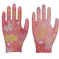 13G polyester garden nitrile coated gloves for women thumbnail image