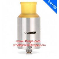 CLT V4 STYLE RDA REBUILDABLE DRIPPING ATOMIZER - SILVER, STAINLESS STEEL, 23MM DIAMETER