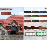 New arrival 1340420mm fire resistance classic roofing tile stone coated thumbnail image