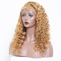 veteran #27 loose curly human hair lace front wigs with baby hair for women thumbnail image
