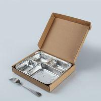 disposable aluminum foil compartment food container thumbnail image