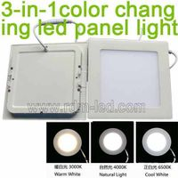 3W 4W 6W 9W 12W 15W 18W 24W slim Square 3 Color LED Downlight