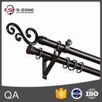 Dual curtain rod wholesale & wrought iron curtain rod