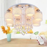 New Round Crystal Ceiling Light For Living Room Indoor Lamp with Remote Controlled luminaria home