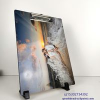 A4 size Sublimation MDF Custom photo printable clipboard wooden wrinting pads thumbnail image