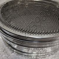 Stainless Spring Steel Wire Slot Hole Opening Steel Tube or Steel Pipe Edged Rim Reusable BBQ Grill