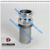 Hose quick aluminum camlock coupling type E supplier