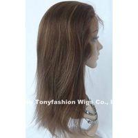 14 Inch Light Yaki Straight 100% Human Hair Full Lace Wig
