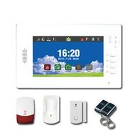 New 7 inch Full-touch Screen LCD wireless alarm system